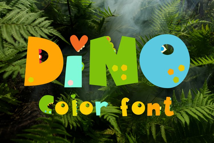 Dinosaurs Color Silly Kid Dino Font, Cricut, silhouette font example image 1