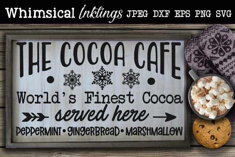 The Cocoa Cafe SVG example image 1