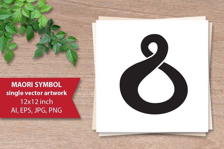 Twist, Maori love symbol - single vector artwork example image 1