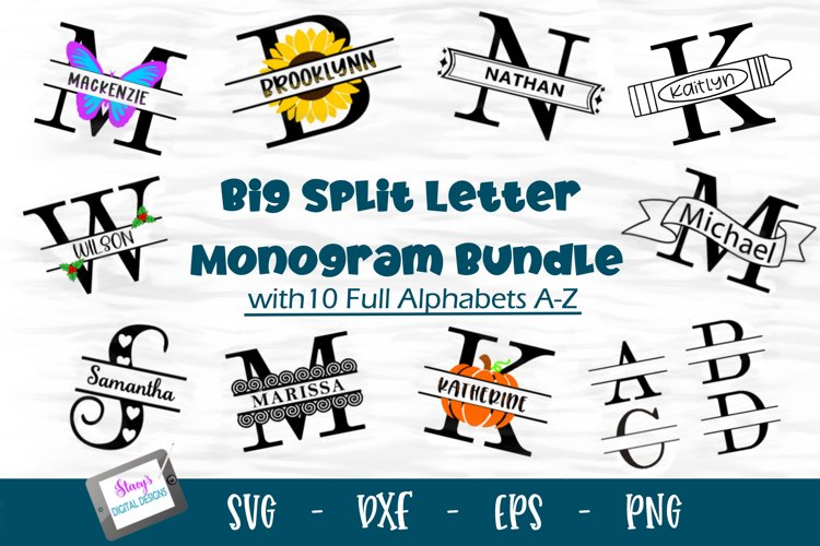 Monogram Bundle - Big Split Letter Monogram Bundle - 10 Sets