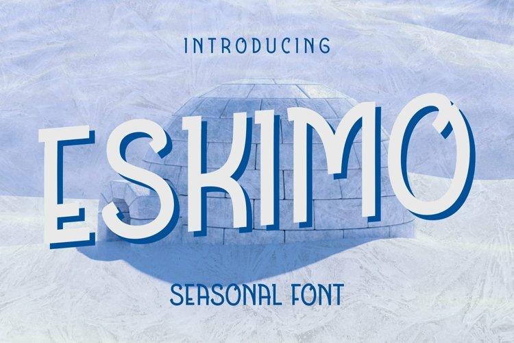 Web Font Eskimo Font example image 1