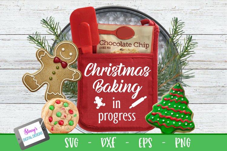 Christmas Pot Holder SVG - Christmas baking in progress