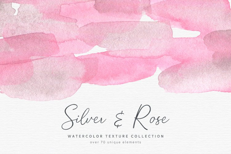 Silver & Rose Watercolor Textures example image 1