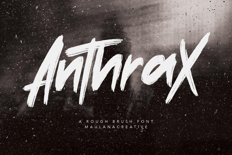 Anthrax Rough Brush Handmade Typeface Font Written example image 1