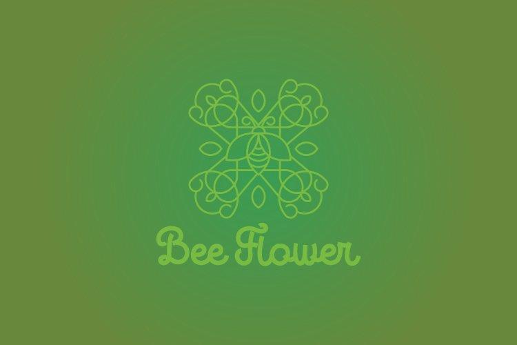 Bee flower logo example image 1