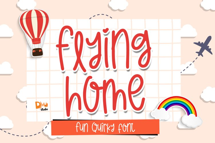 Flying Home - Quirky Handwritten Font example image 1