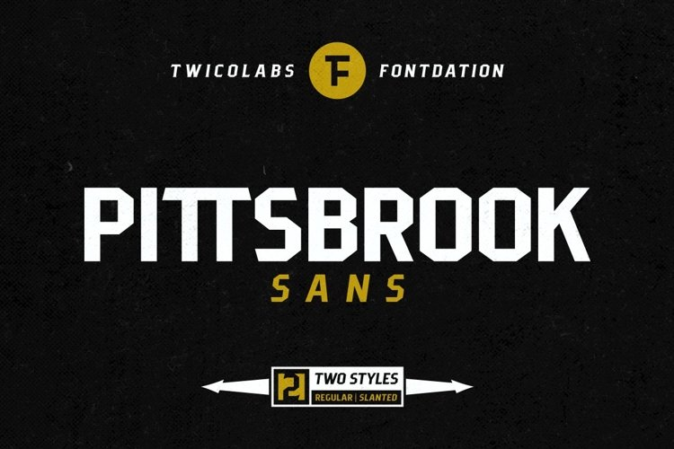 Pittsbrook Sans | 4 Fonts example image 1