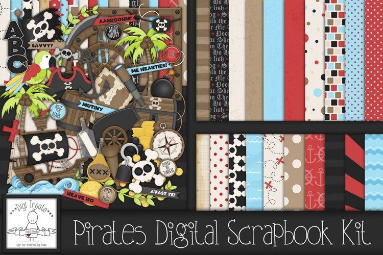 Pirates Digital Scrapbook Kit