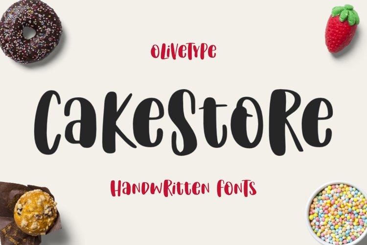 Cake Store - A Fun Handwritten Font example image 1