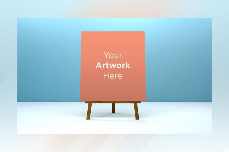 A Stand Advertising Board Mockup example image 1