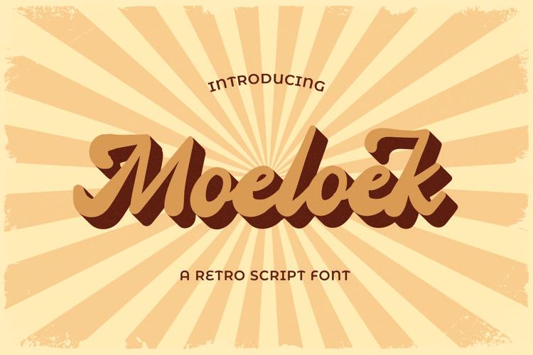 Moeloek - Retro Bold Display Script example image 1