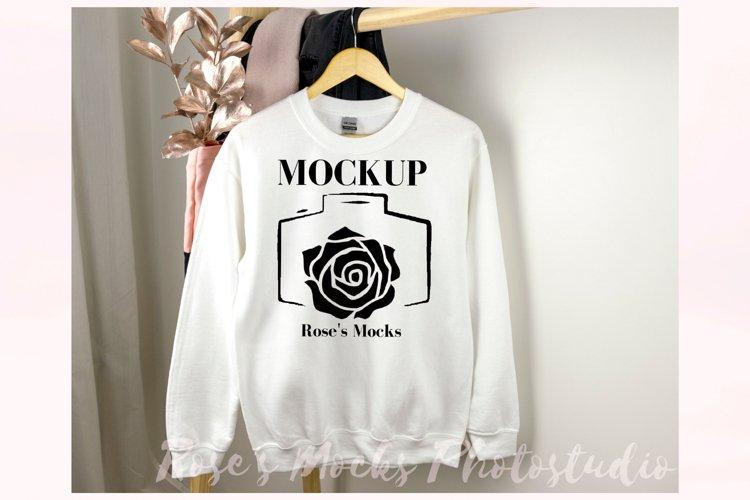 Gildan 18000 Sweatshirt Mockup White example image 1
