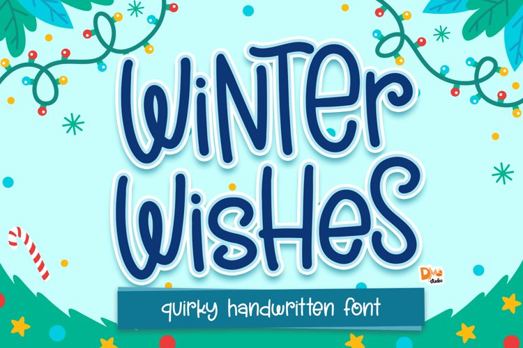 Winter Wishes - Quirky Handwritten Font example image 1