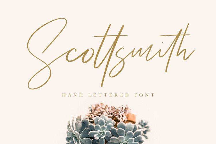 Scottsmith - Ligatures Font example image 1