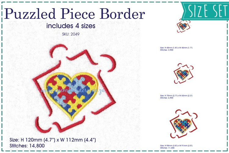 Puzzle Outline Puzzled Heart Detail Design example image 1