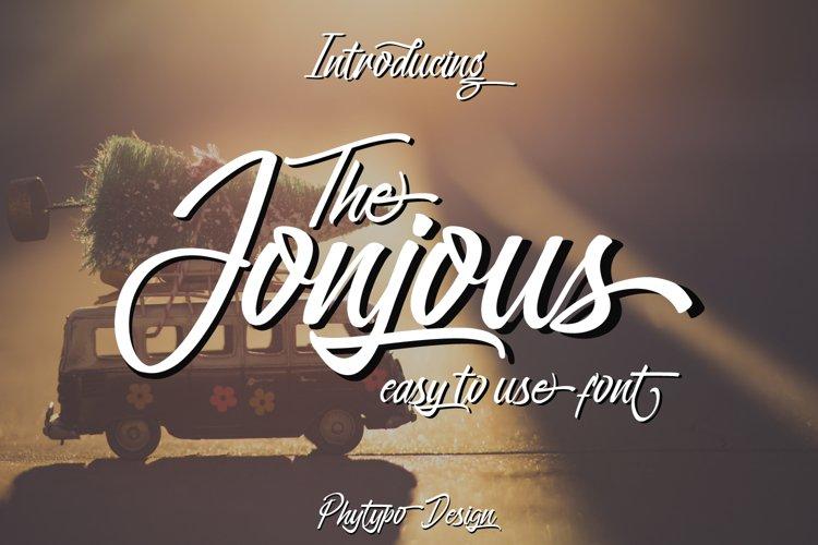 Jonjous Script Font example image 1