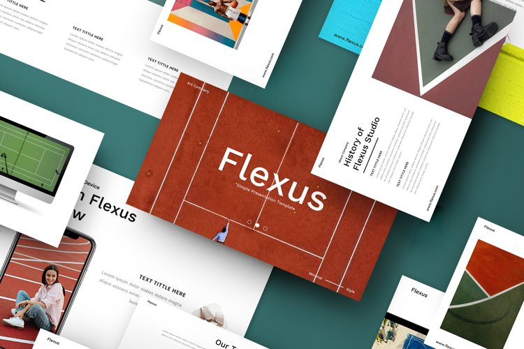 Flexus - Creative Business Google Slides Template example image 1