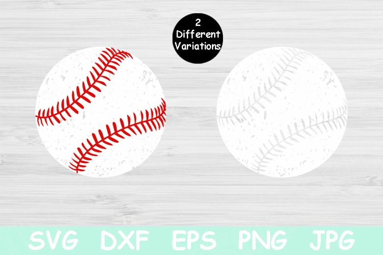Distressed Baseball Svg Files for Cricut. Baseball Mom Svg example image 1