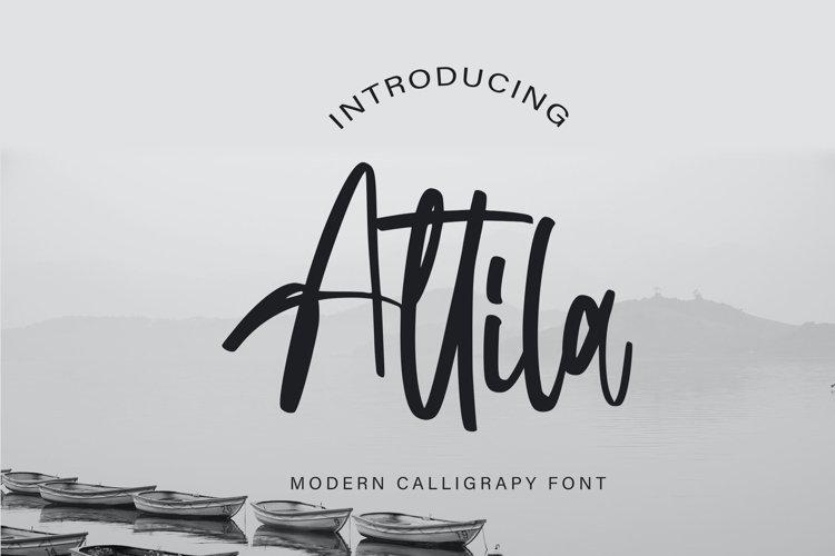 Attila | Modern Calligraphy Font example image 1