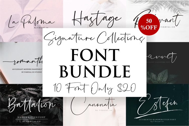 Signature Collection Font Bundle example image 1