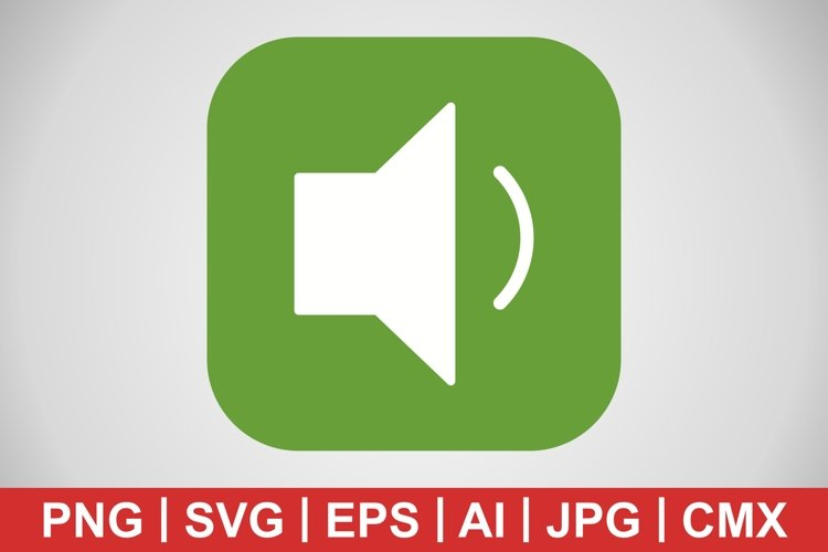 Vector Low Volume Icon example image 1