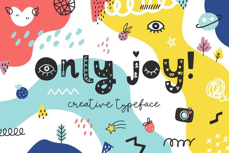 Only Joy typeface example image 1