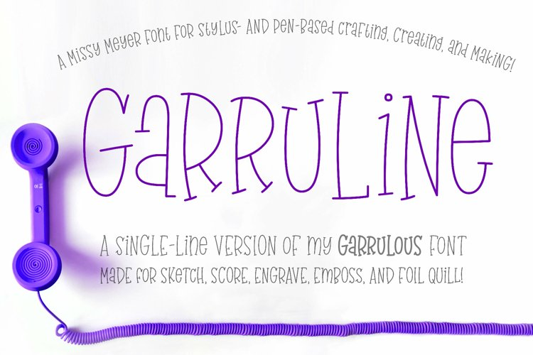 GarruLine - a single line hairline sketch & score font!