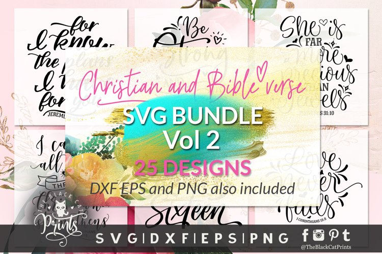 Christian Bundle SVG | Christian SVG | Bible Verse SVG - 2 example image 1