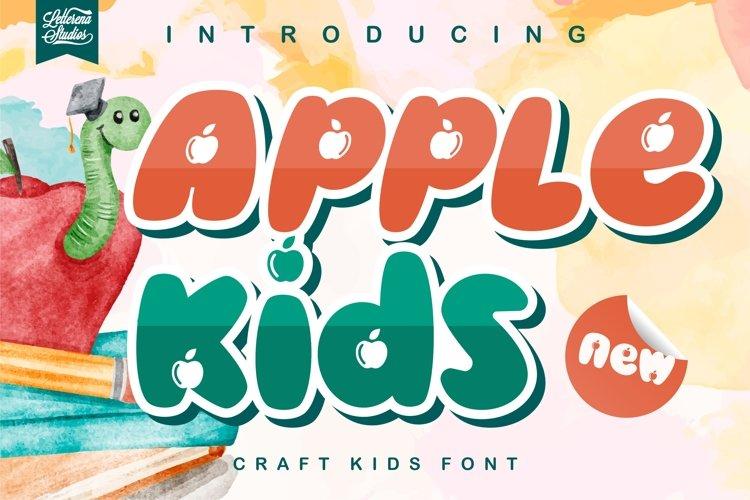 Apple kids- Crafting KidsFont example image 1