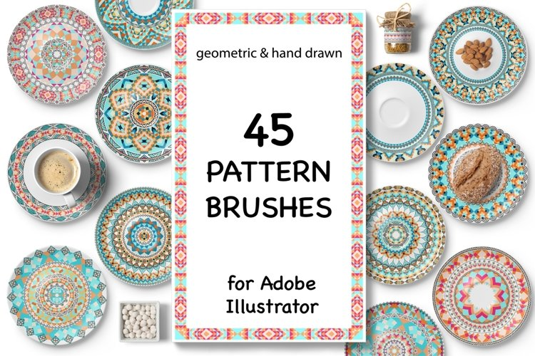 45 Vector Pattern Brushes example image 1