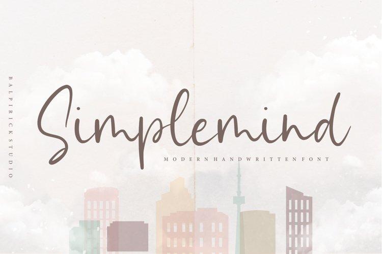 Simplemind Modern Handwritten Font example image 1