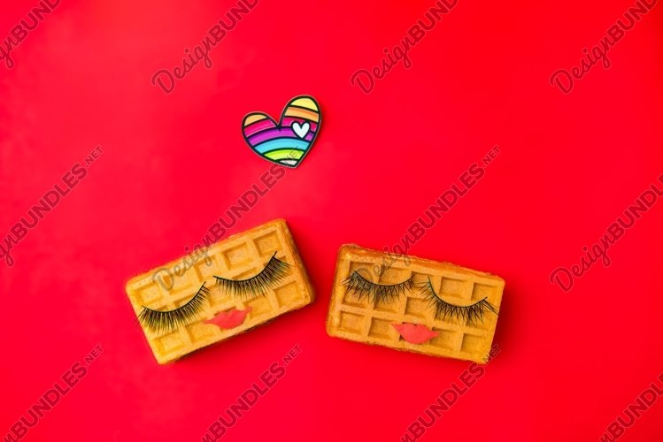 Concept lgbt love. Creative Valentine's Day Greeting card example image 1