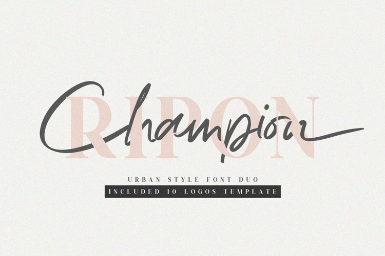 Ripon Font Duo // Free 10 Logos