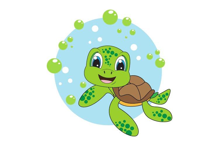 cute turtle cartoon example image 1