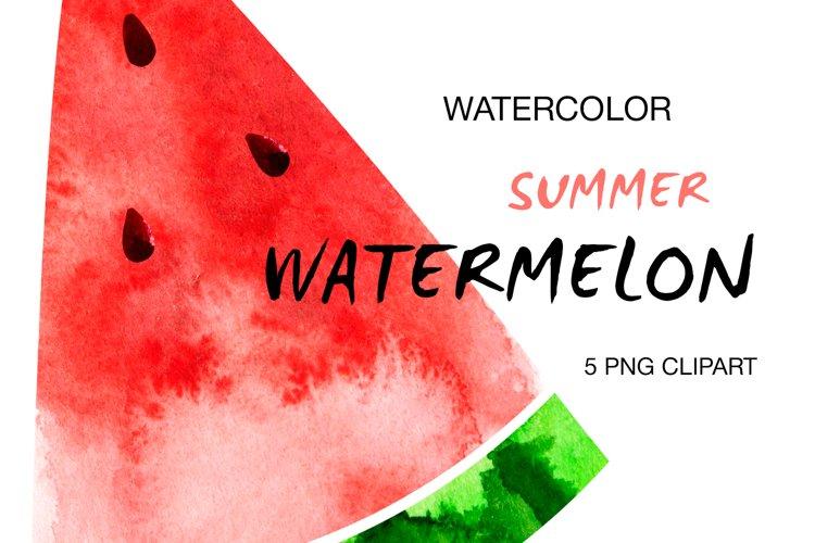 Watermelon slices digital clipart Watecolor Illustrations