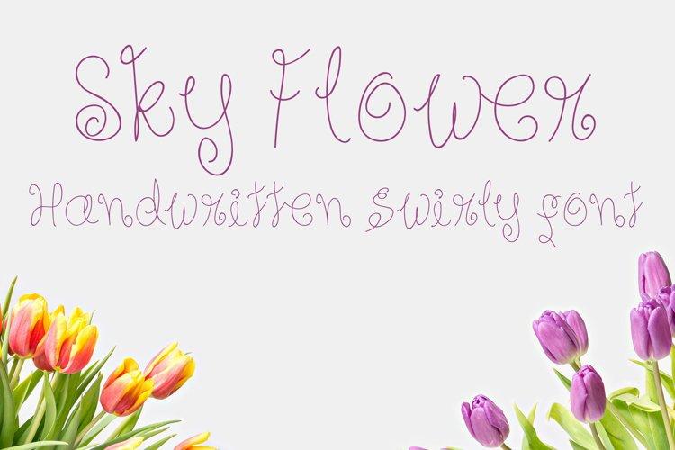 Sky Flower - Handwritten Font example image 1