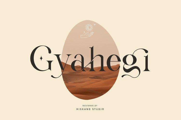 Gyahegi Serif Font