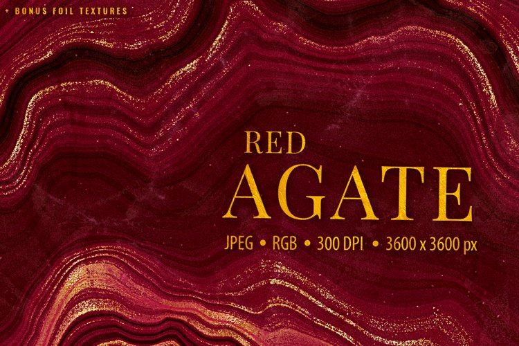 Gold Veined Red Agate Textures - Agate Stone Backgrounds