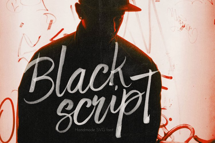 Black Script SVG Bold Brush Font example image 1