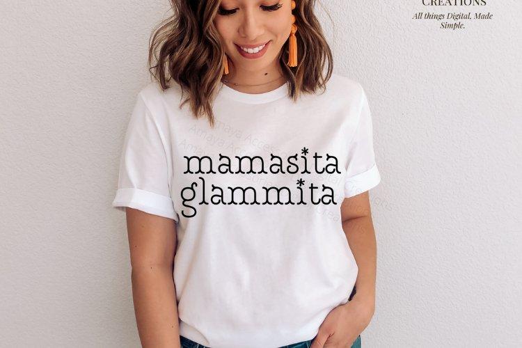 Mamasita Glammita SVG, Instant Download example image 1