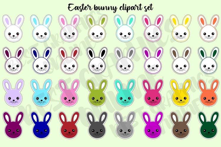 Easter bunny clipart set, Bunny clip art, Rabbit clipart