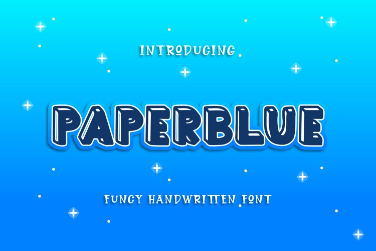 Paperblue - Handwritten Font example image 1
