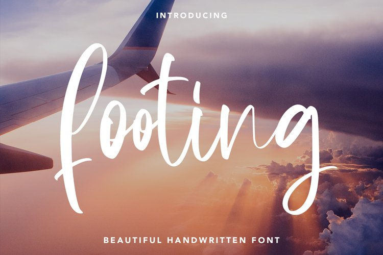 Footing - Beautiful Handwritten Font example image 1
