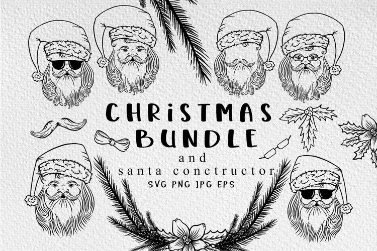 Santa Christmas svg bundle example image 1
