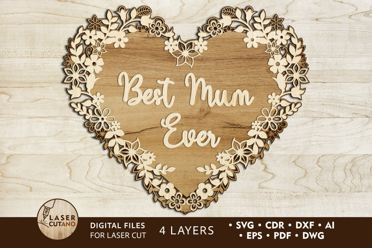 Multilayer Cut File MOTHERS DAY for Laser Cut, Cricut, CNC