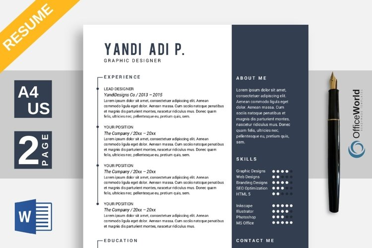 Flipped Resume / CV