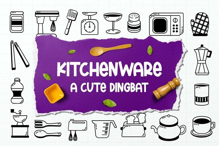 Web Font Kitchenware Dingbat example image 1