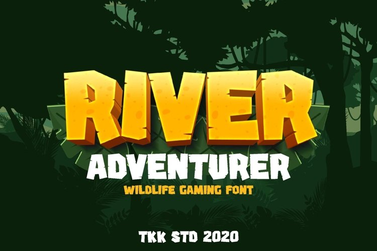 River Adventurer - Block and Gaming Font example image 1