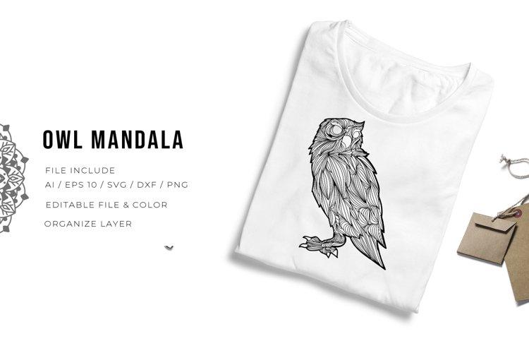 Owl Mandala | SVG example image 1
