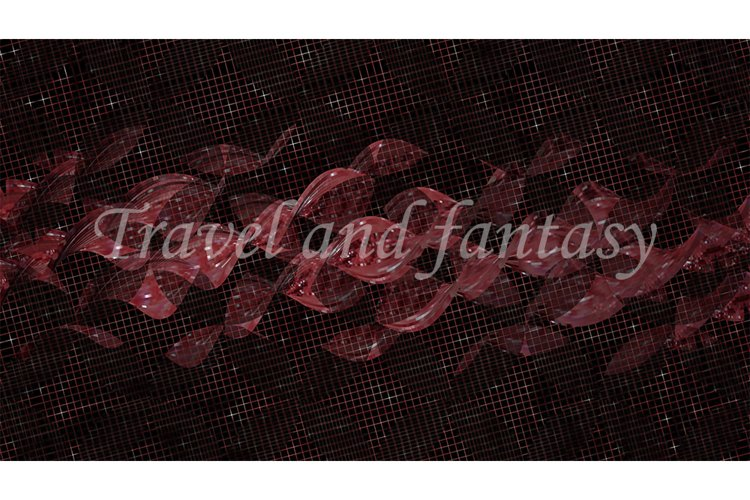 Abstract dark background with red spirals. Design, art example image 1